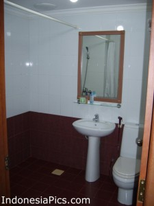 Attached Bathroom in Batam Cheap Hotel